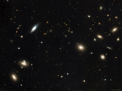 Coma Cluster of Galaxies Photographic Print by  Stocktrek Images