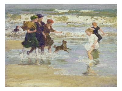 Splashing Giclee Print by Edward Henry Potthast