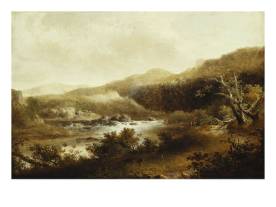 River Landscape Giclee Print by Thomas Doughty