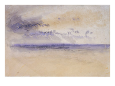 Off the Coast: Seascape and Clouds, 19th Century Giclee Print by J. M. W. Turner