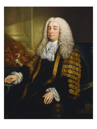 Portrait of Lord Bowes of Clonlyon Three-Length in Lord Chancellor's Robes, 18th Century Giclee Print by Stephen Slaughter