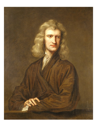 Portrait of Sir Isaac Newton,