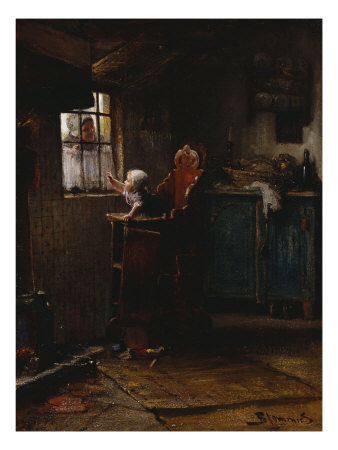 Mother's Return, 19th Century Giclee Print by Bernhardus J. Blommers
