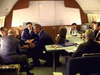President Lyndon Johnson Talking with New York Congressmen Photographic Print by Bill Eppridge