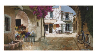 Picking Up Flowers Prints by Gilles Archambault