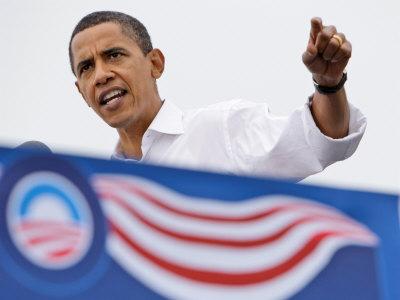 Barack Obama Speaking, Greensboro, NC Photographic Print