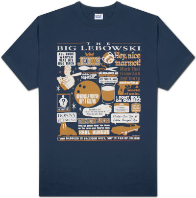 The Big Lebowski - Quote Mashup T-Shirt