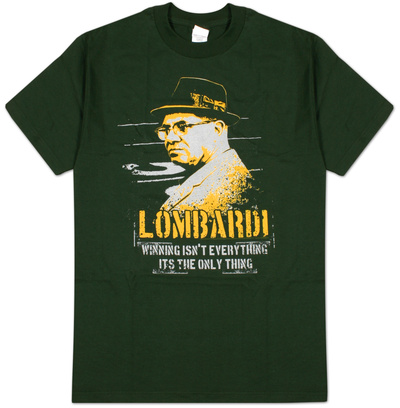Vince Lombardi - Winning Isn't Everything, It's the Only Thing Camiseta