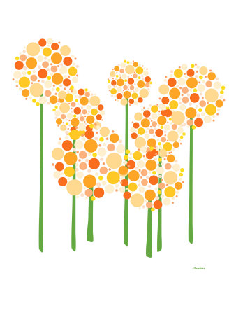 Orange Alliums Art Print