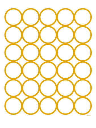 Yellow Circles Posters by  Avalisa