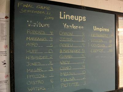 New York Yankee Stadium Finale Line Up, New York, NY Photographic Print