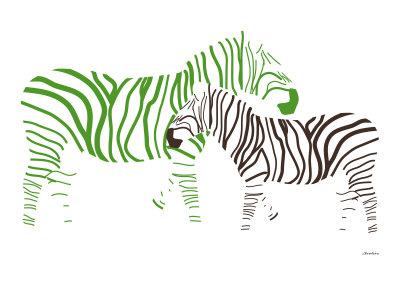 Green Zebra Poster by  Avalisa