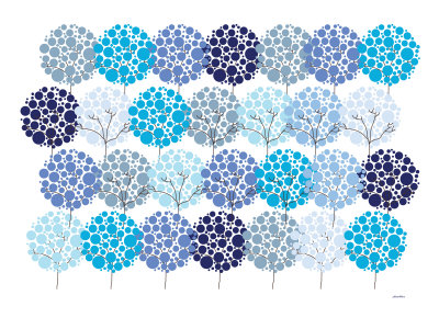 Blue Park Prints by  Avalisa