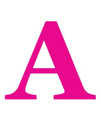 Pink A Kunsttryk