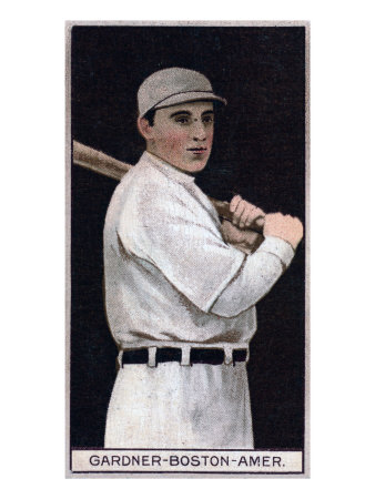 Boston, MA, Boston Red Sox, William Lawrence Gardner, Baseball Card Reproduction d'art