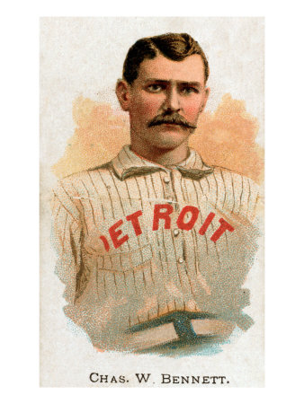 Detroit, MI, Detroit Wolverines, Chas. W. Bennett, Baseball Card Poster by  Lantern Press