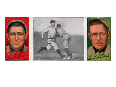 Chicago, IL, Chicago Cubs, David Shean, Frank L. Chance, Baseball Card Art Print