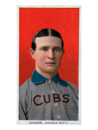 Chicago, IL, Chicago Cubs, Frank Chance, Baseball Card Art Print