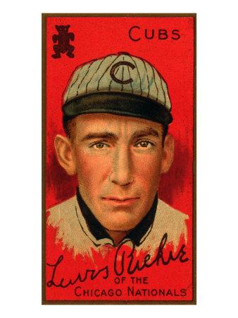 Chicago, IL, Chicago Cubs, Lewis Richie, Baseball Card Art Print