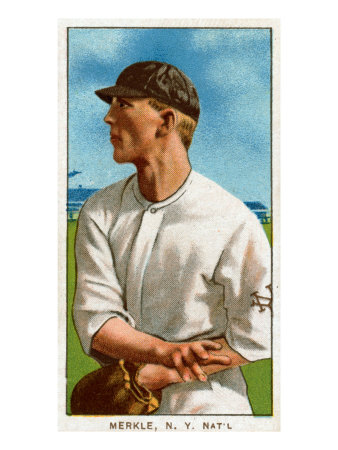 New York City, NY, New York Giants, Fred Merkle, Baseball Card Poster by  Lantern Press