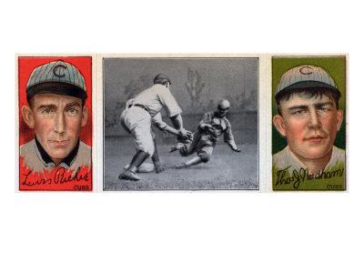 Chicago, IL, Chicago Cubs, Louis Richie, Thos. J. Needham, Baseball Card Art Print