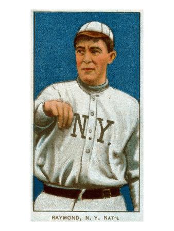 New York City, NY, New York Giants, Bugs Raymond, Baseball Card Posters by  Lantern Press