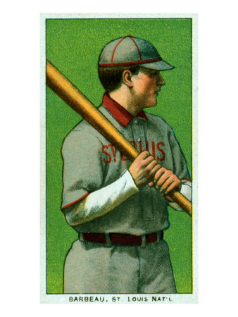 St. Louis, MO, St. Louis Cardinals, W. Joseph Barbeau, Baseball Card Posters by  Lantern Press