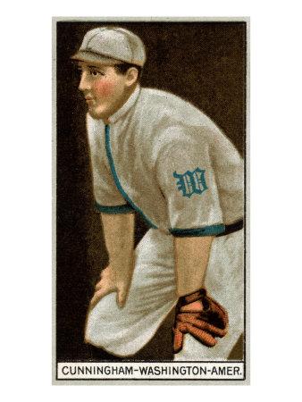Washington D.C., Washington Nationals, William Cunningham, Baseball Card Print by  Lantern Press
