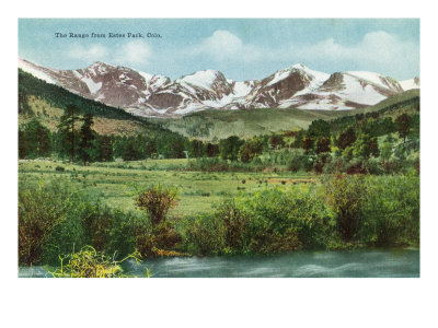 Rocky Mountain National Park, Colorado, View of the Range from Estes Park Prints by  Lantern Press