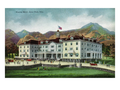 Rocky Mountain National Park, Colorado, Exterior View of the Stanley Hotel, Estes Park Posters by  Lantern Press