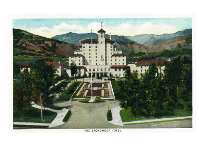 Colorado Springs, Colorado, Exterior View of the Front of the Broadmoor Hotel Prints by  Lantern Press
