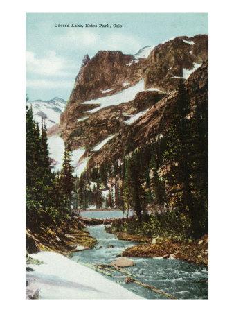 Rocky Mountain National Park, Colorado, View of Odessa Lake, Estes Park Prints by  Lantern Press