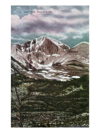 Rocky Mountain National Park, Colorado, Panoramic View of Long's Peak in Estes Park Prints by  Lantern Press
