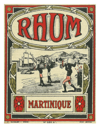 Rhum Martinique Brand Rum Label Poster by  Lantern Press