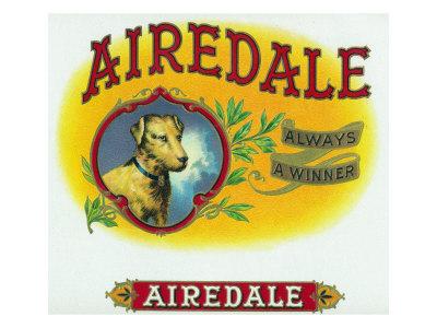 Airedale Brand Cigar Box Label Print by  Lantern Press