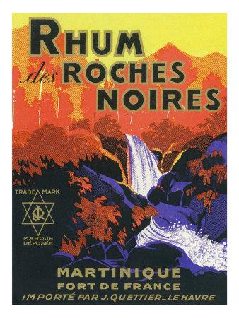 Rhum des Roches Noires Brand Rum Label Posters by  Lantern Press
