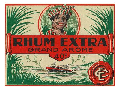 Rhum Extra Grand Arome Brand Rum Label Posters by  Lantern Press