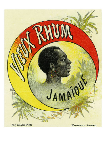 Vieux Rhum Jamaique Brand Rum Label Prints by  Lantern Press