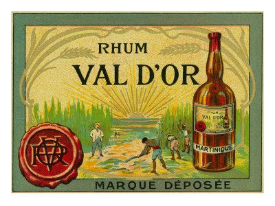 Rhum Val d'Or Martinique Brand Rum Label Prints by  Lantern Press