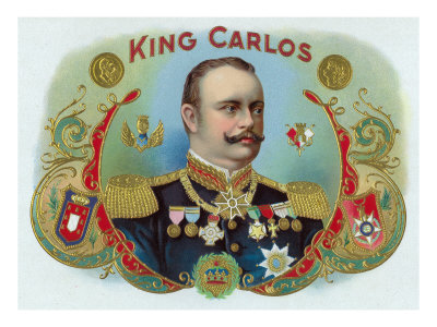 King Carlos Brand Cigar Inner Box Label, King Juan Carlos I of Spain Print by  Lantern Press