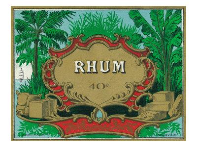 Rhum Forty Proof Rum Label Prints by  Lantern Press