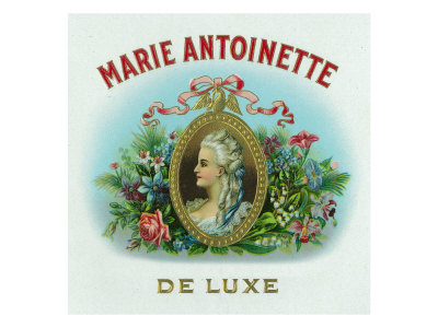 Marie Antoinette De Luxe Brand Cigar Box Label Prints by  Lantern Press