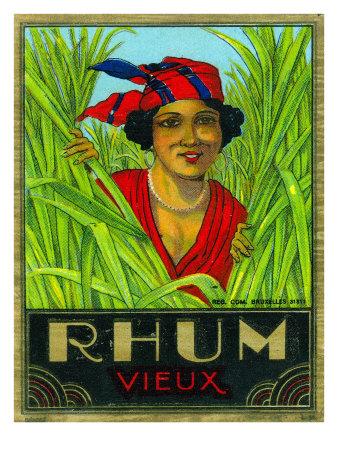 Rhum Vieux Rum Label Posters by  Lantern Press