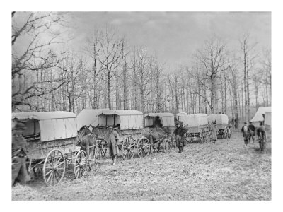 Washington, DC, Ambulance Train at Harewood Hospital, Civil War Reproduction d'art