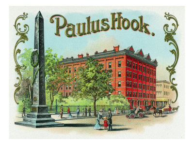 Paulus Hook Brand Cigar Box Label Poster by  Lantern Press