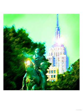 Empire State Building, New York Art by  Tosh