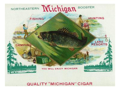 Michigan Brand Cigar Box Label Posters by  Lantern Press