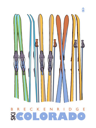 Breckenridge, Colorado, Skis in the Snow Posters by  Lantern Press