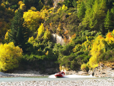 Shotover Jet, Shotover River, Queenstown, New Zealand Photographic Print by David Wall