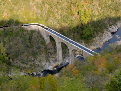 Aqueduct over Doux River, Ardeche Region, France Photographic Print